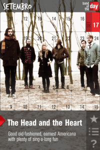 Banda Head and Heart no app Band of the Day