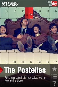 Banda The Postelles no app Band of the Day