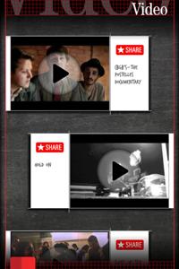 Detalhe de Vídeos do The Postelles no app Band of the Day