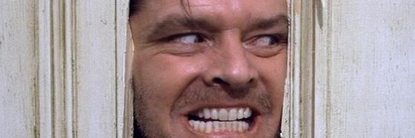 O Iluminado, Jack Nicholson, Cena clássica do cinema